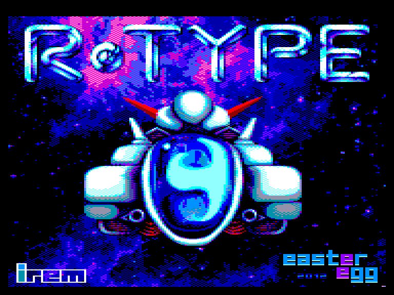 screenshot of the Amstrad CPC game R-Type by GameBase CPC