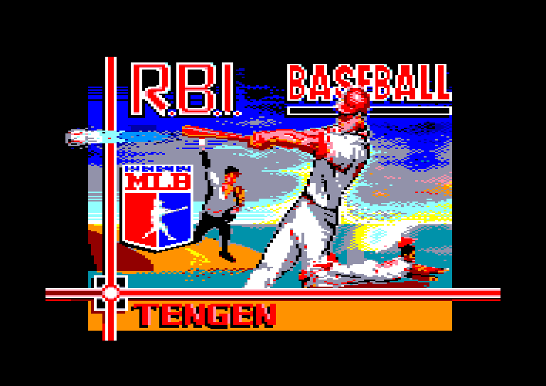 screenshot of the Amstrad CPC game R.B.I. Baseball 2 by GameBase CPC