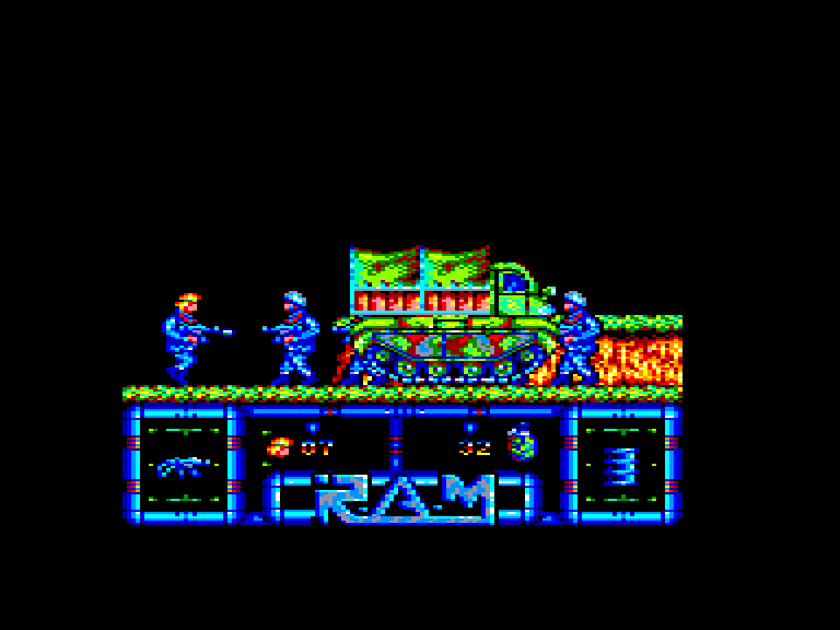 screenshot of the Amstrad CPC game Ram by GameBase CPC