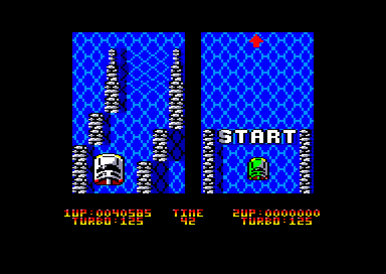 screenshot of the Amstrad CPC game Race (the) by GameBase CPC