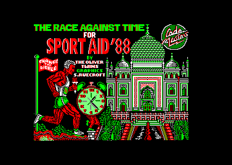 screenshot of the Amstrad CPC game Race Against Time (the) by GameBase CPC