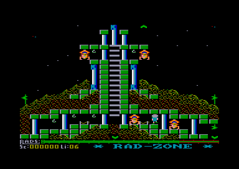 screenshot of the Amstrad CPC game Radzone by GameBase CPC