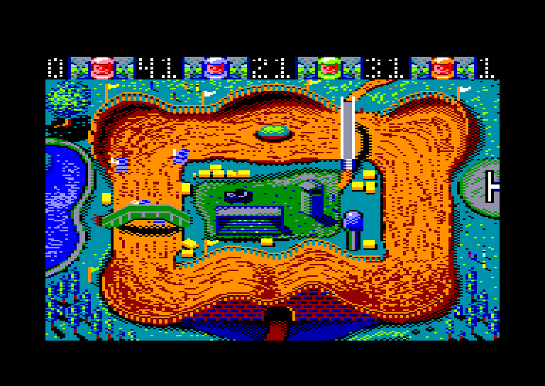 screenshot of the Amstrad CPC game Rally Cross by GameBase CPC