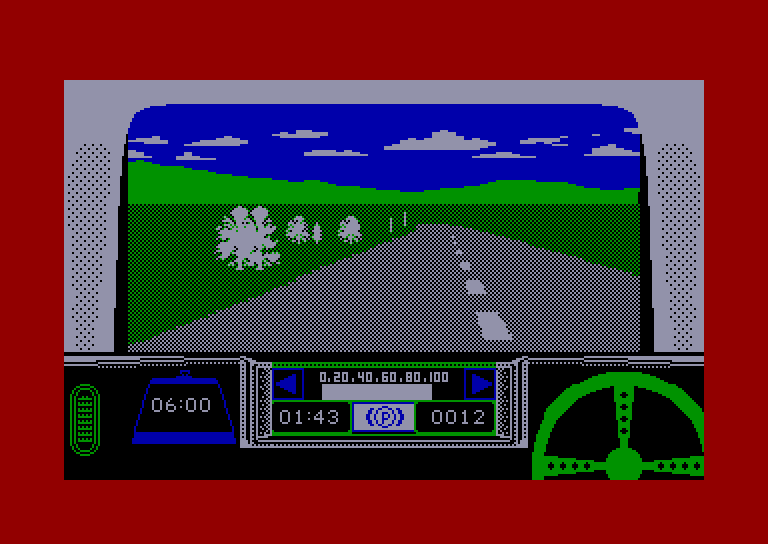 screenshot of the Amstrad CPC game Rally driver by GameBase CPC