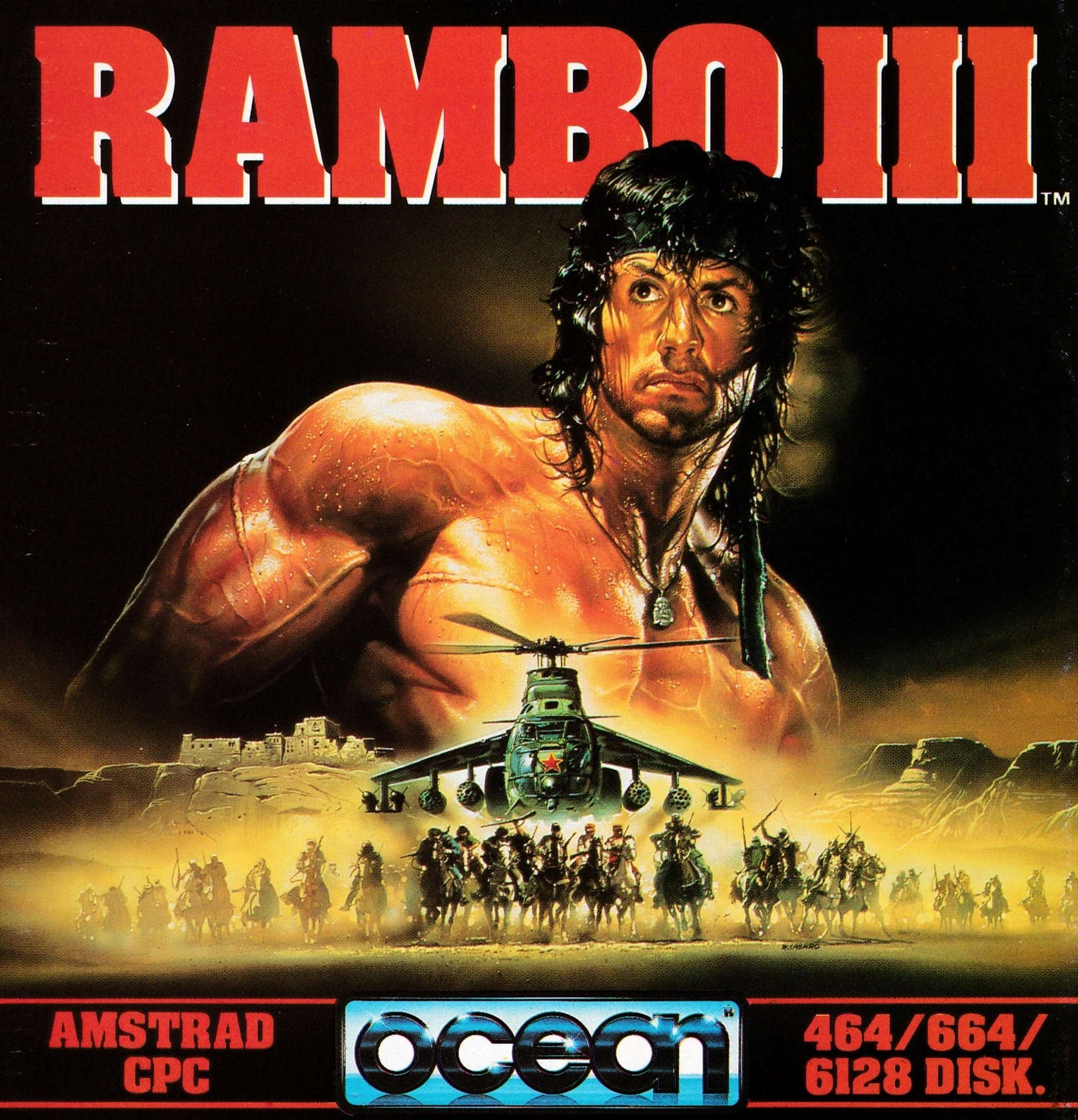 cover of the Amstrad CPC game Rambo III  by GameBase CPC