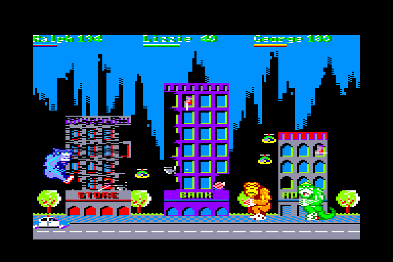 screenshot of the Amstrad CPC game Rampage by GameBase CPC