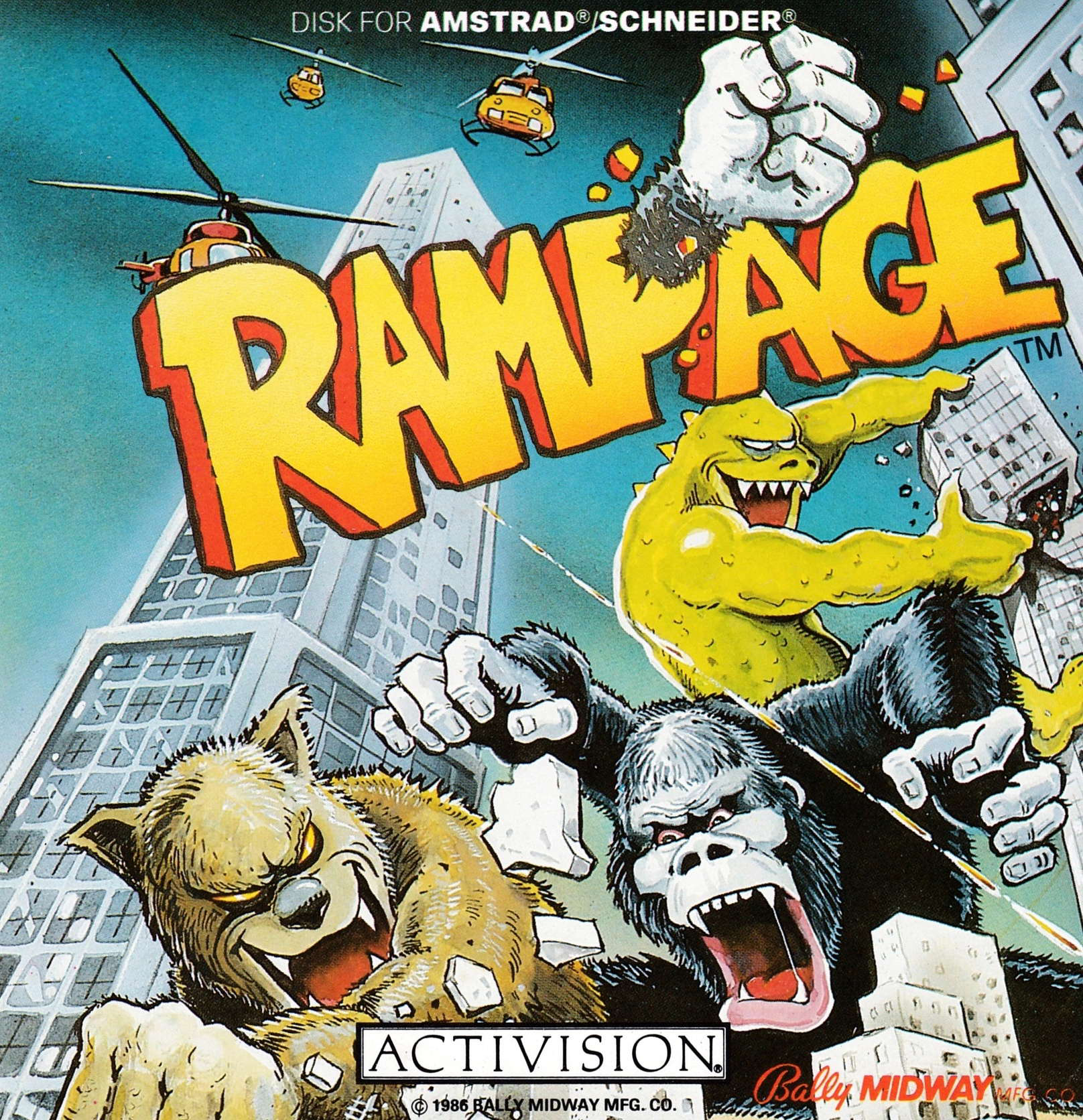 cover of the Amstrad CPC game Rampage  by GameBase CPC