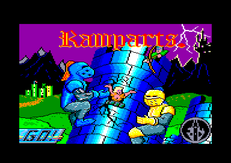 screenshot of the Amstrad CPC game Ramparts by GameBase CPC