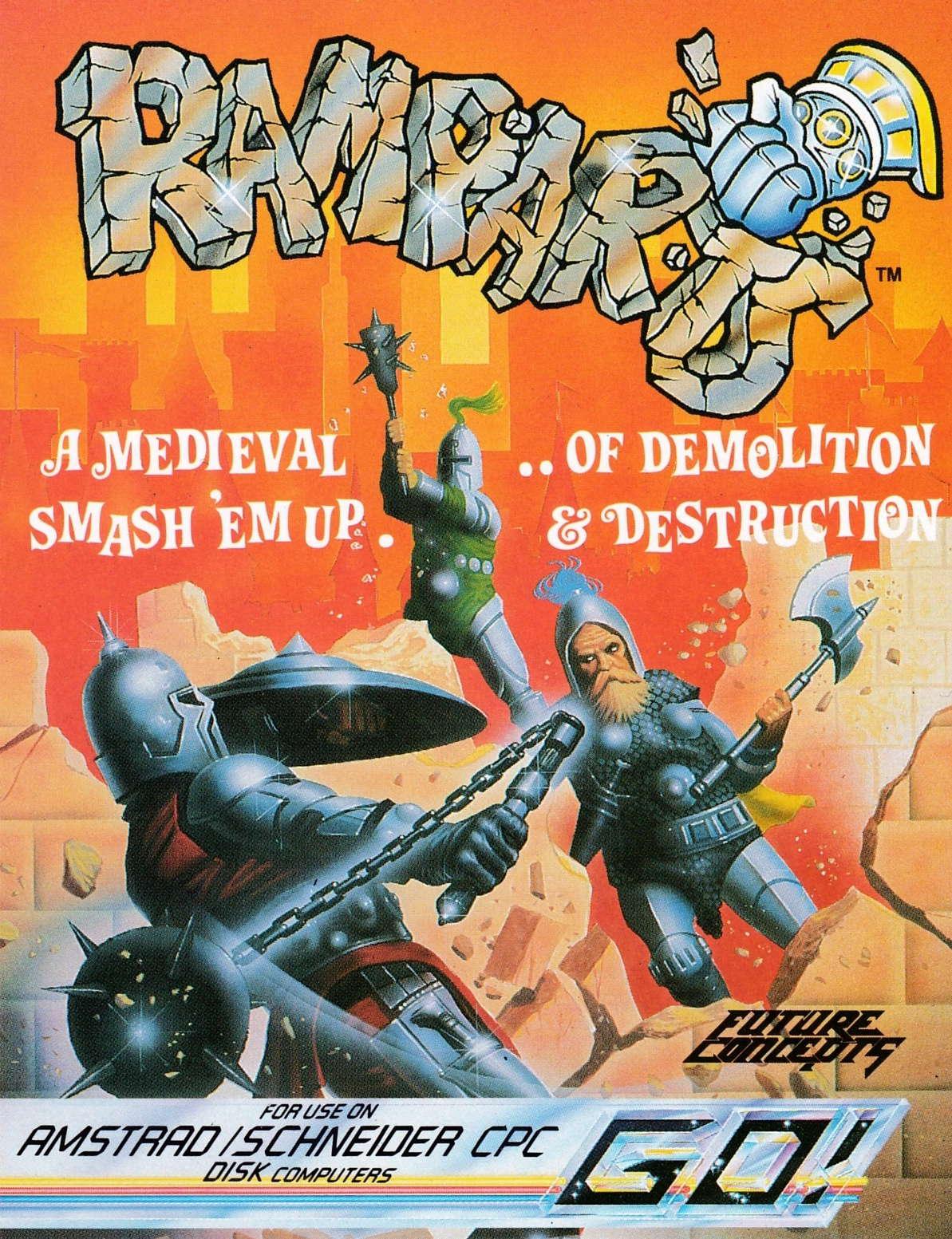 cover of the Amstrad CPC game Ramparts  by GameBase CPC