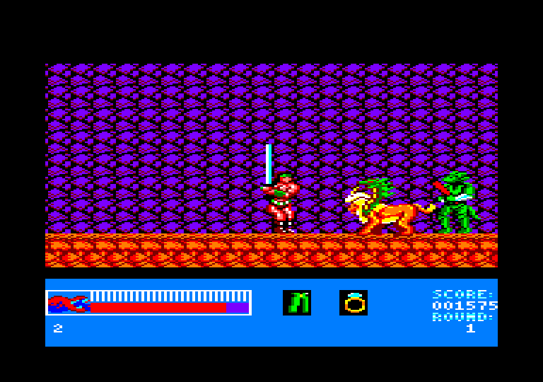 screenshot of the Amstrad CPC game Rastan by GameBase CPC
