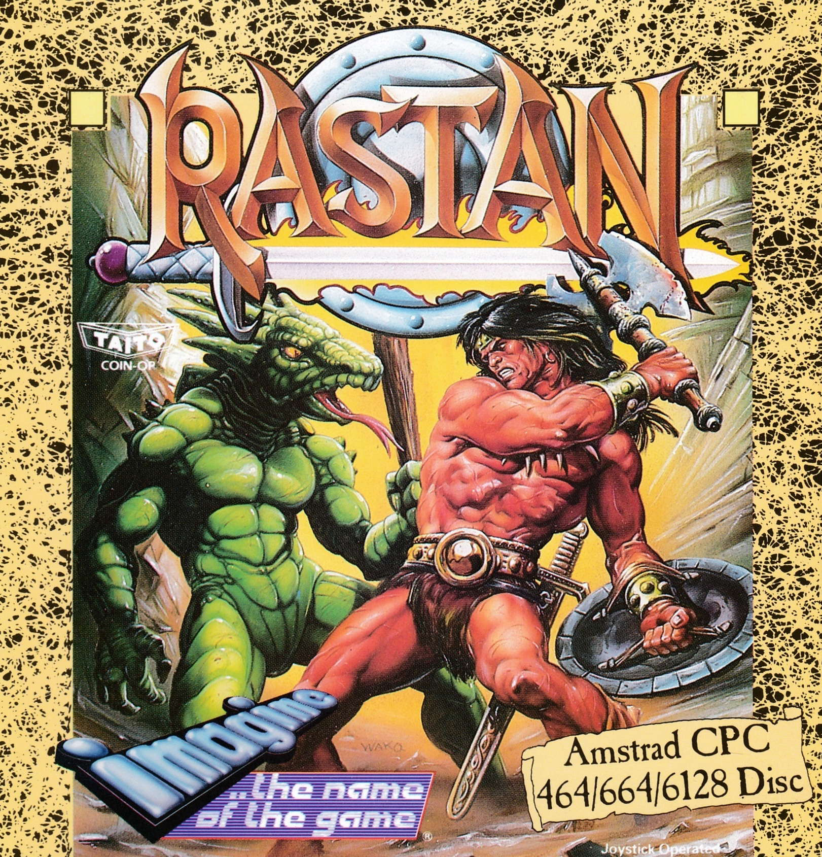 cover of the Amstrad CPC game Rastan  by GameBase CPC