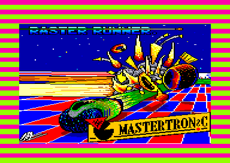 screenshot of the Amstrad CPC game Raster runner by GameBase CPC