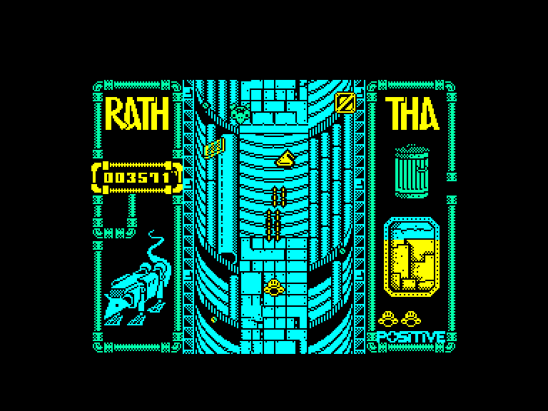 screenshot of the Amstrad CPC game Rath-Tha by GameBase CPC