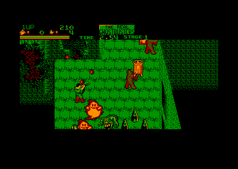 screenshot of the Amstrad CPC game Real ghostbusters (the) by GameBase CPC