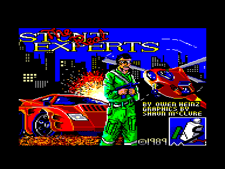 screenshot of the Amstrad CPC game Real stunt experts (the) by GameBase CPC
