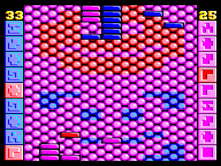 screenshot of the Amstrad CPC game Red & Blue by GameBase CPC