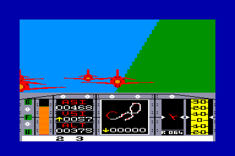 screenshot of the Amstrad CPC game Red arrows by GameBase CPC