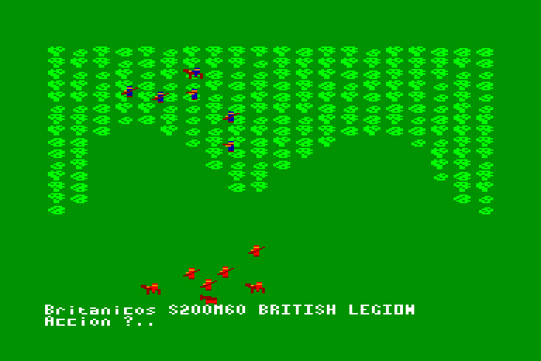 screenshot of the Amstrad CPC game Red coats by GameBase CPC