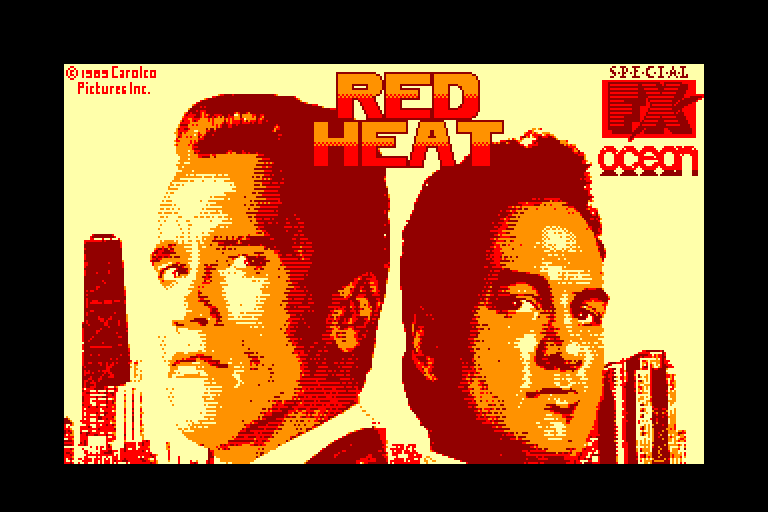 screenshot of the Amstrad CPC game Red Heat by GameBase CPC
