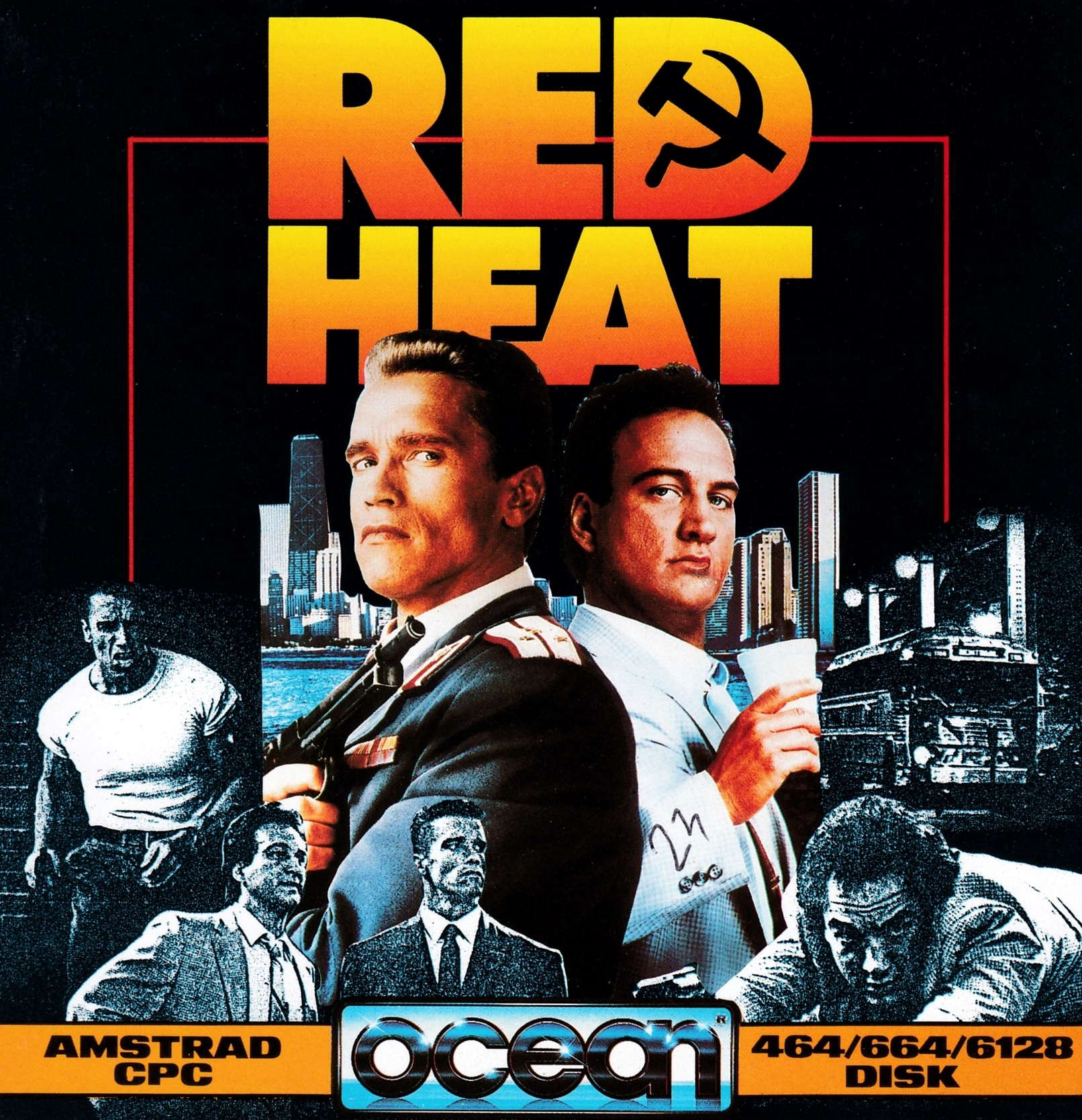 cover of the Amstrad CPC game Red Heat  by GameBase CPC
