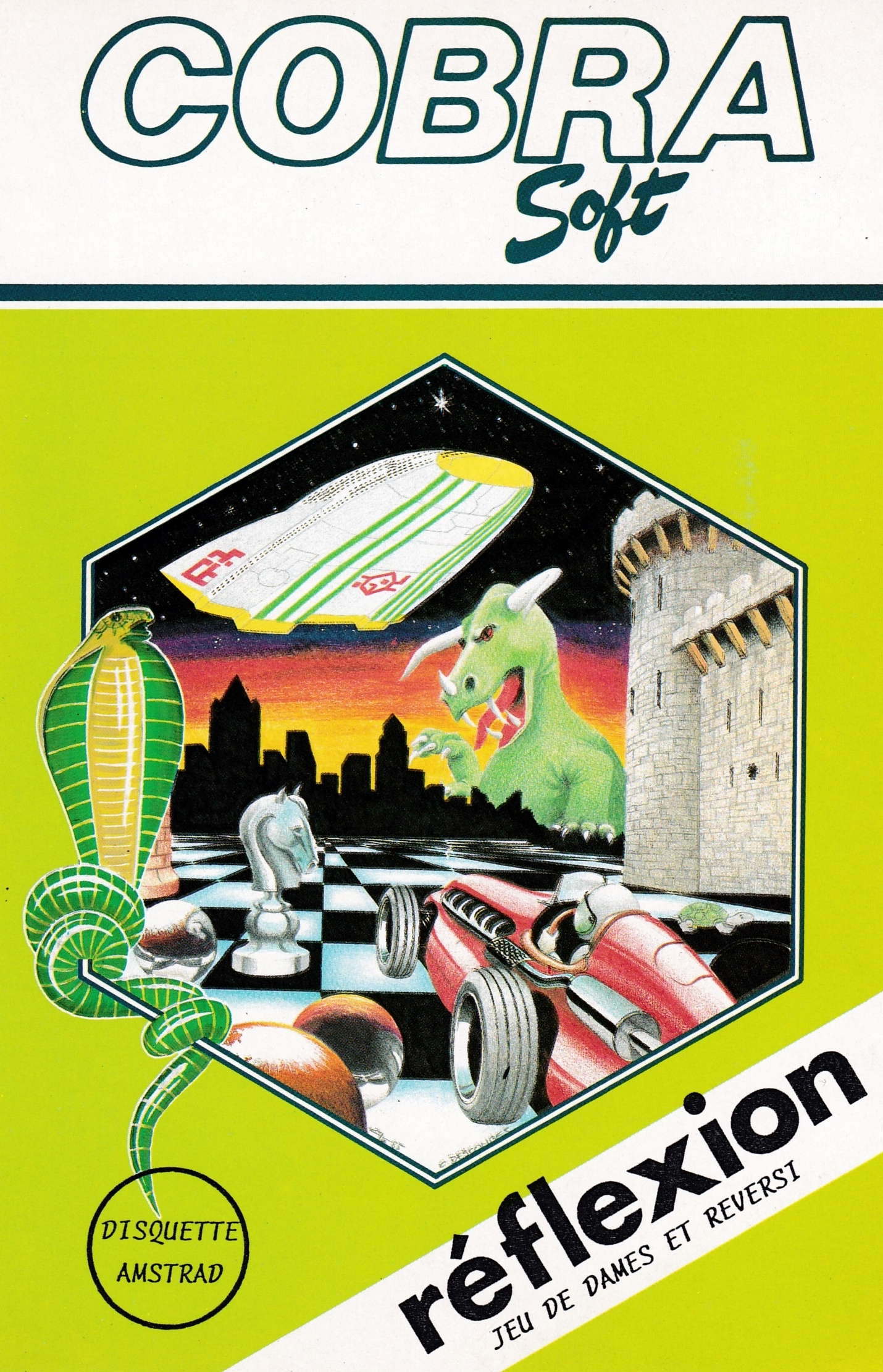 screenshot of the Amstrad CPC game Reflexion by GameBase CPC