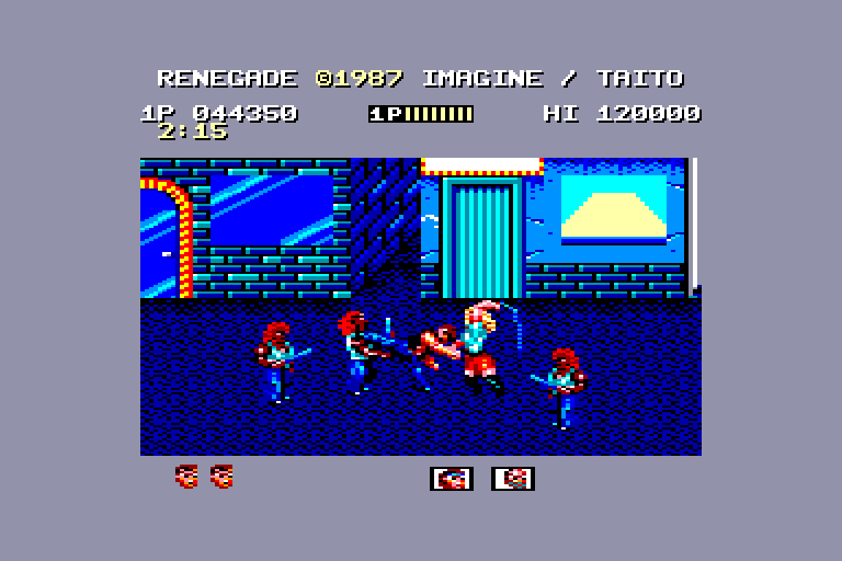 screenshot of the Amstrad CPC game Renegade by GameBase CPC