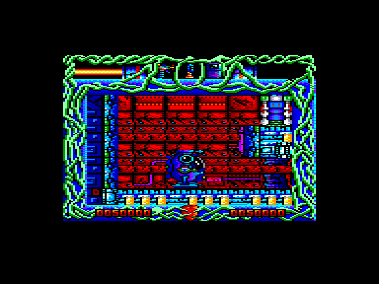 screenshot of the Amstrad CPC game Rescate Atlantida by GameBase CPC
