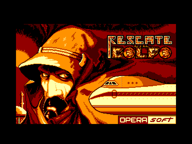screenshot of the Amstrad CPC game Rescate en el golfo by GameBase CPC