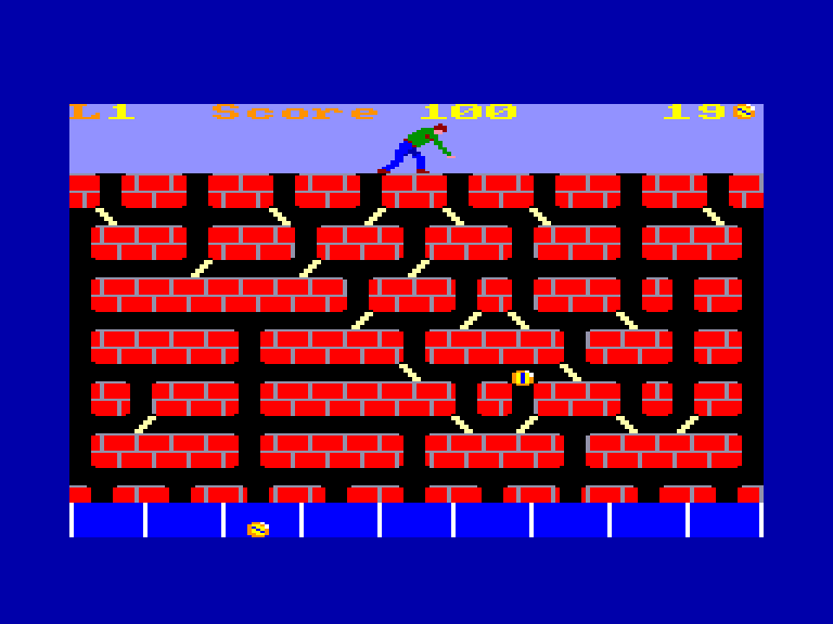 screenshot of the Amstrad CPC game Resquilleur (le) by GameBase CPC