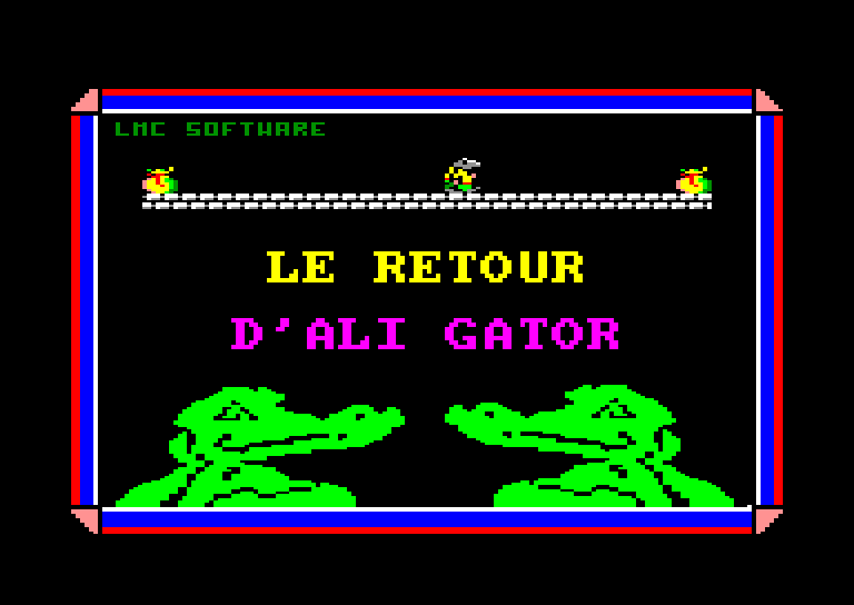 screenshot of the Amstrad CPC game Retour d'ali gator (le) by GameBase CPC