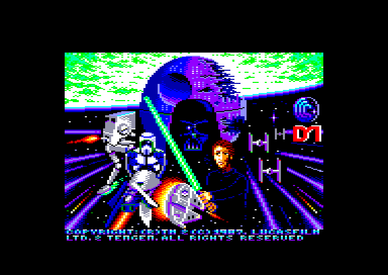 screenshot of the Amstrad CPC game Return of the Jedi by GameBase CPC