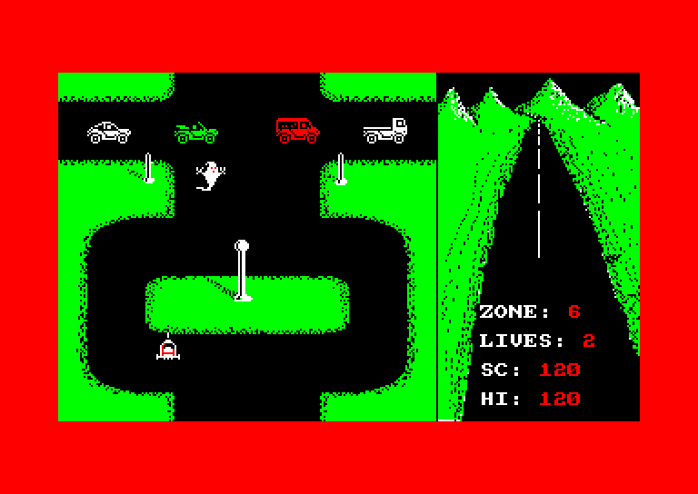 screenshot of the Amstrad CPC game Revenge of the c5 by GameBase CPC