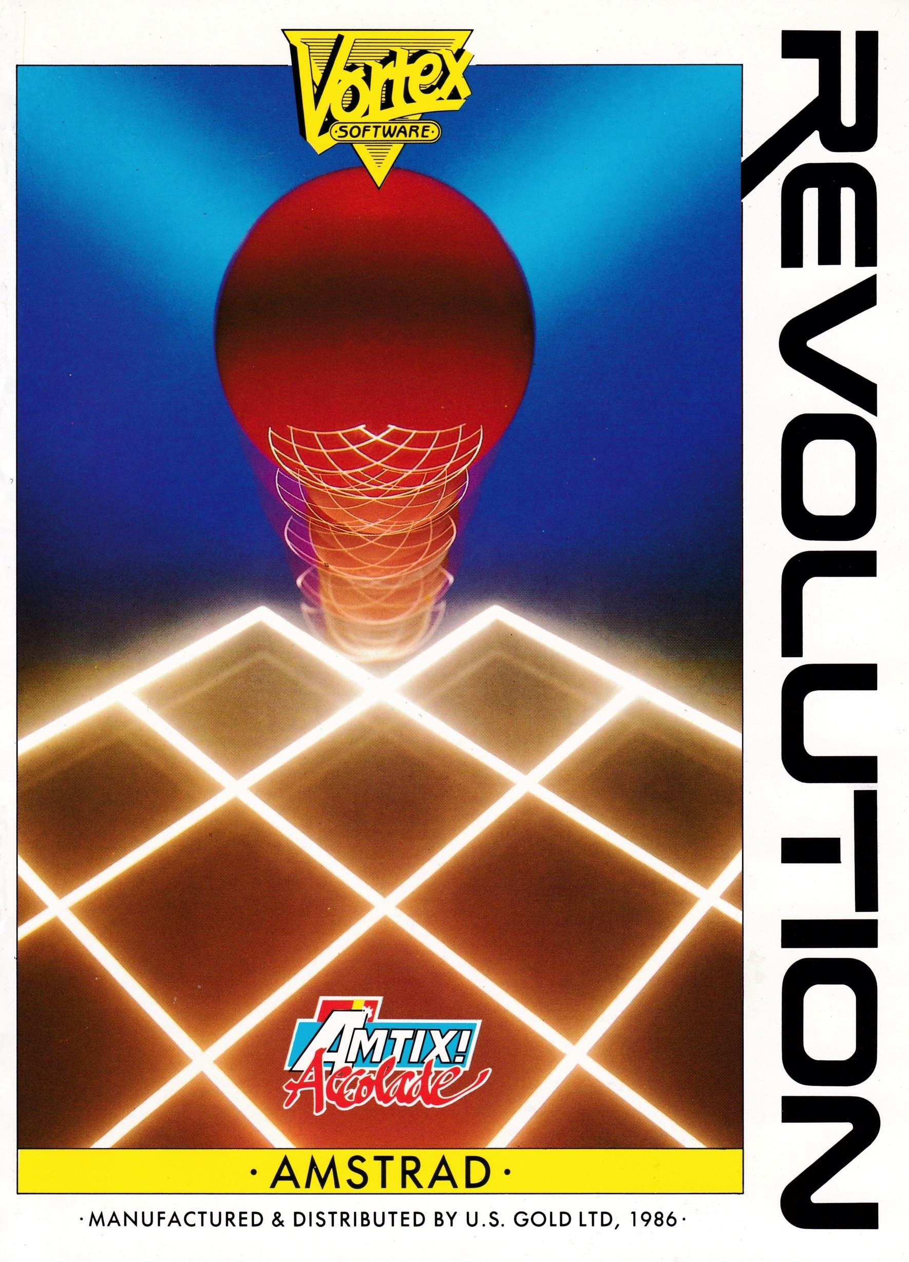 screenshot of the Amstrad CPC game Revolution by GameBase CPC