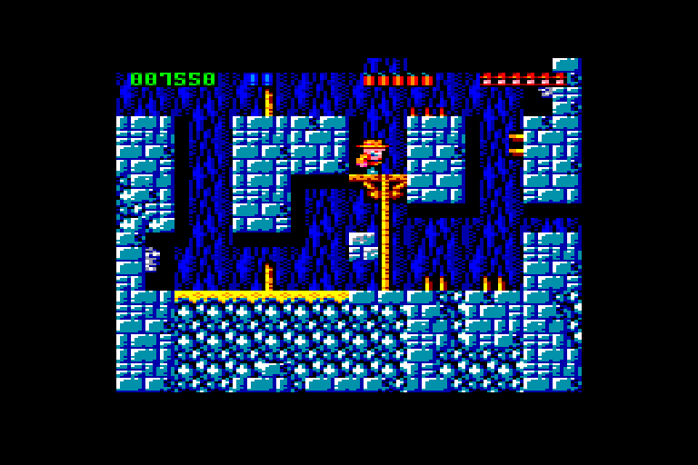 screenshot of the Amstrad CPC game Rick Dangerous by GameBase CPC