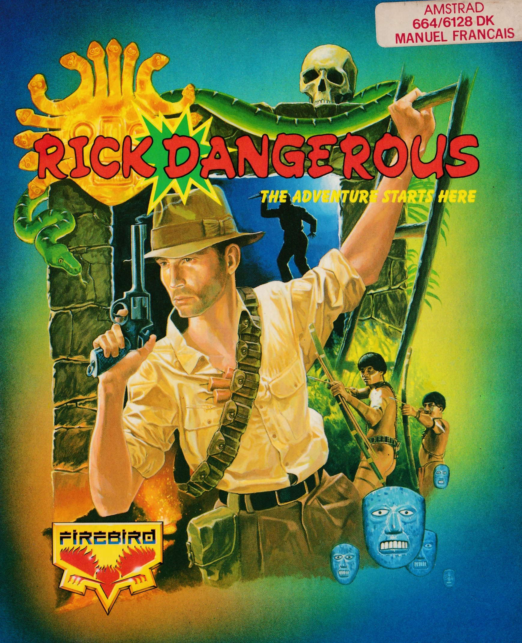 cover of the Amstrad CPC game Rick Dangerous  by GameBase CPC