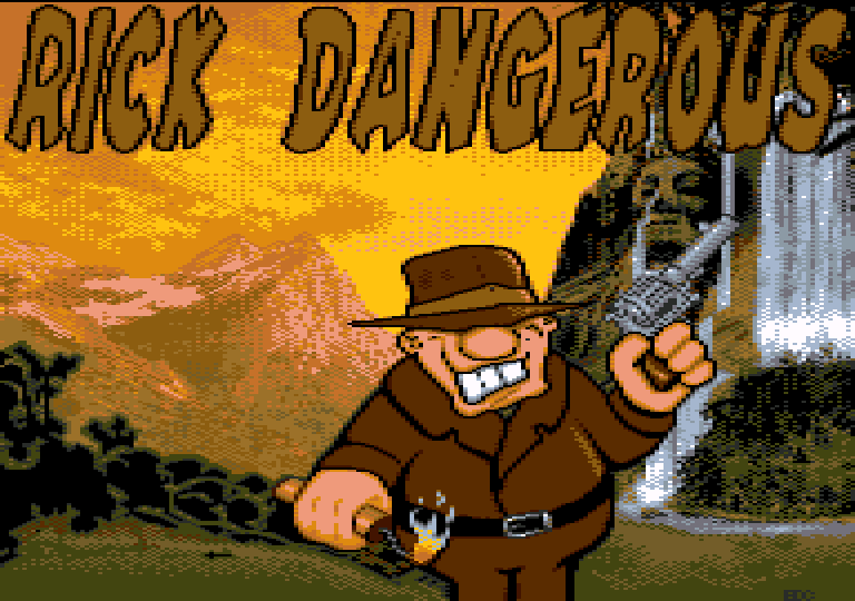 screenshot of the Amstrad CPC game Rick Dangerous 128+ by GameBase CPC
