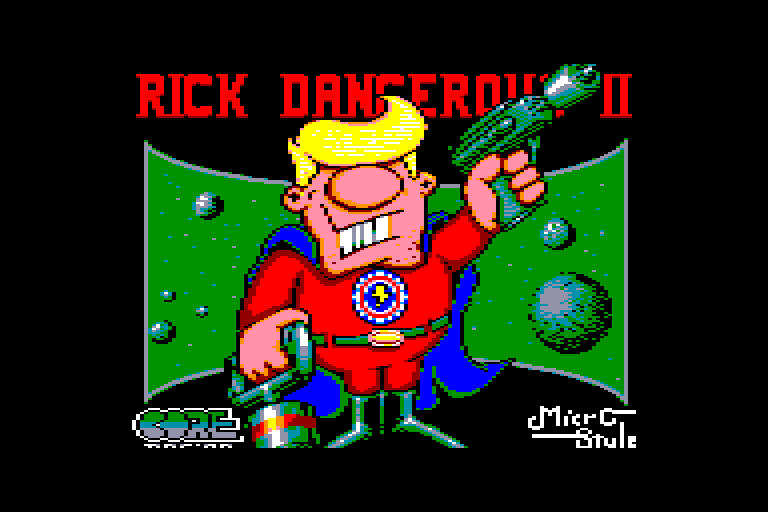 screenshot of the Amstrad CPC game Rick Dangerous II by GameBase CPC