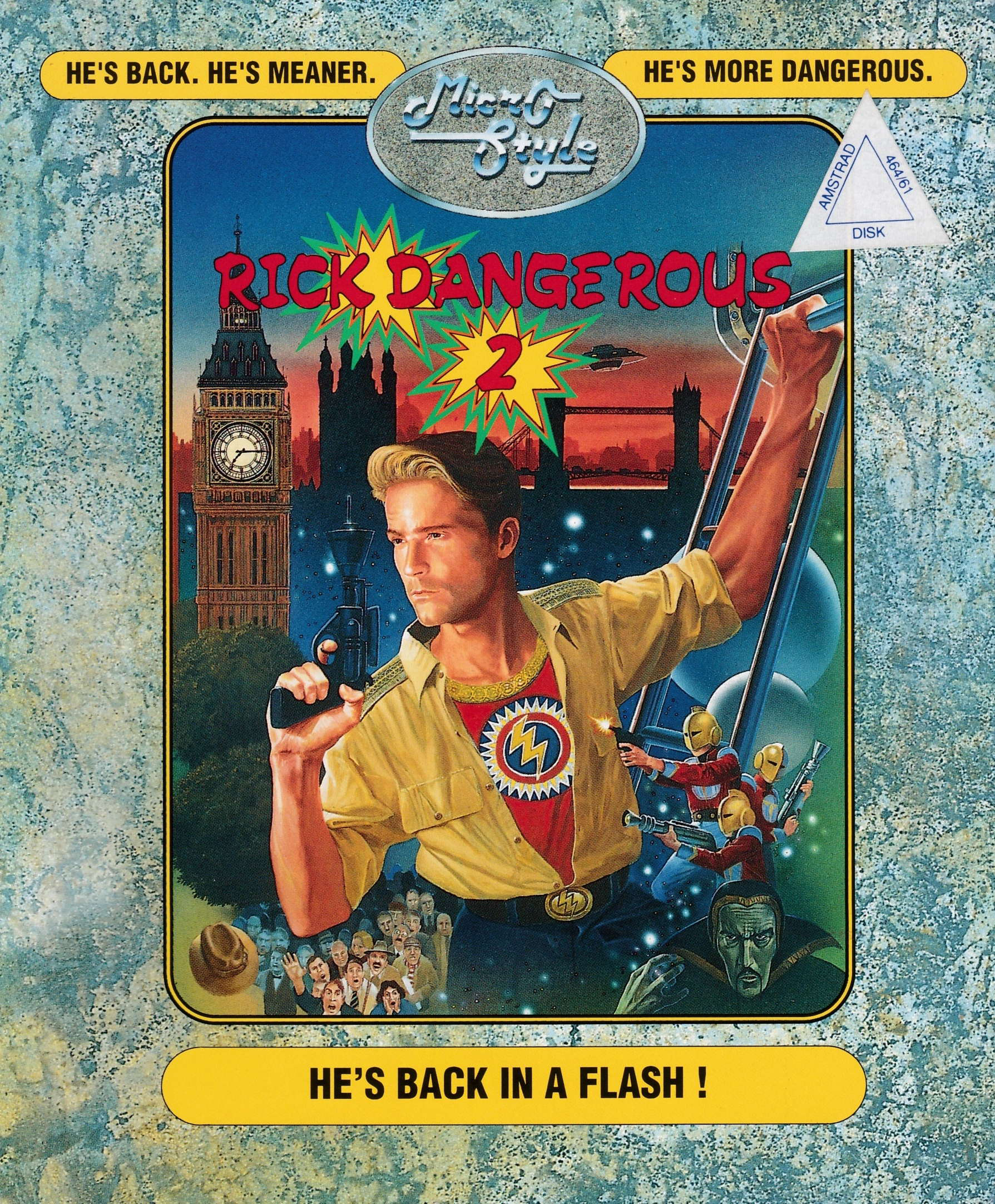 cover of the Amstrad CPC game Rick Dangerous II  by GameBase CPC