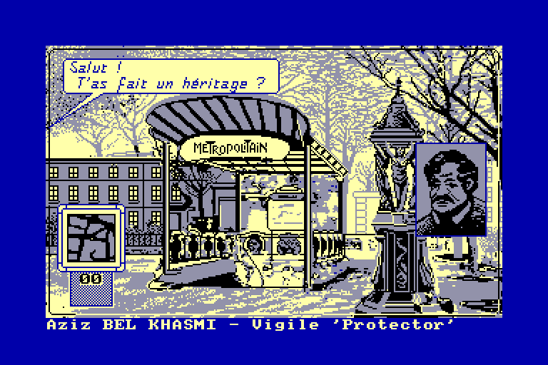 screenshot of the Amstrad CPC game Ripoux (les) by GameBase CPC