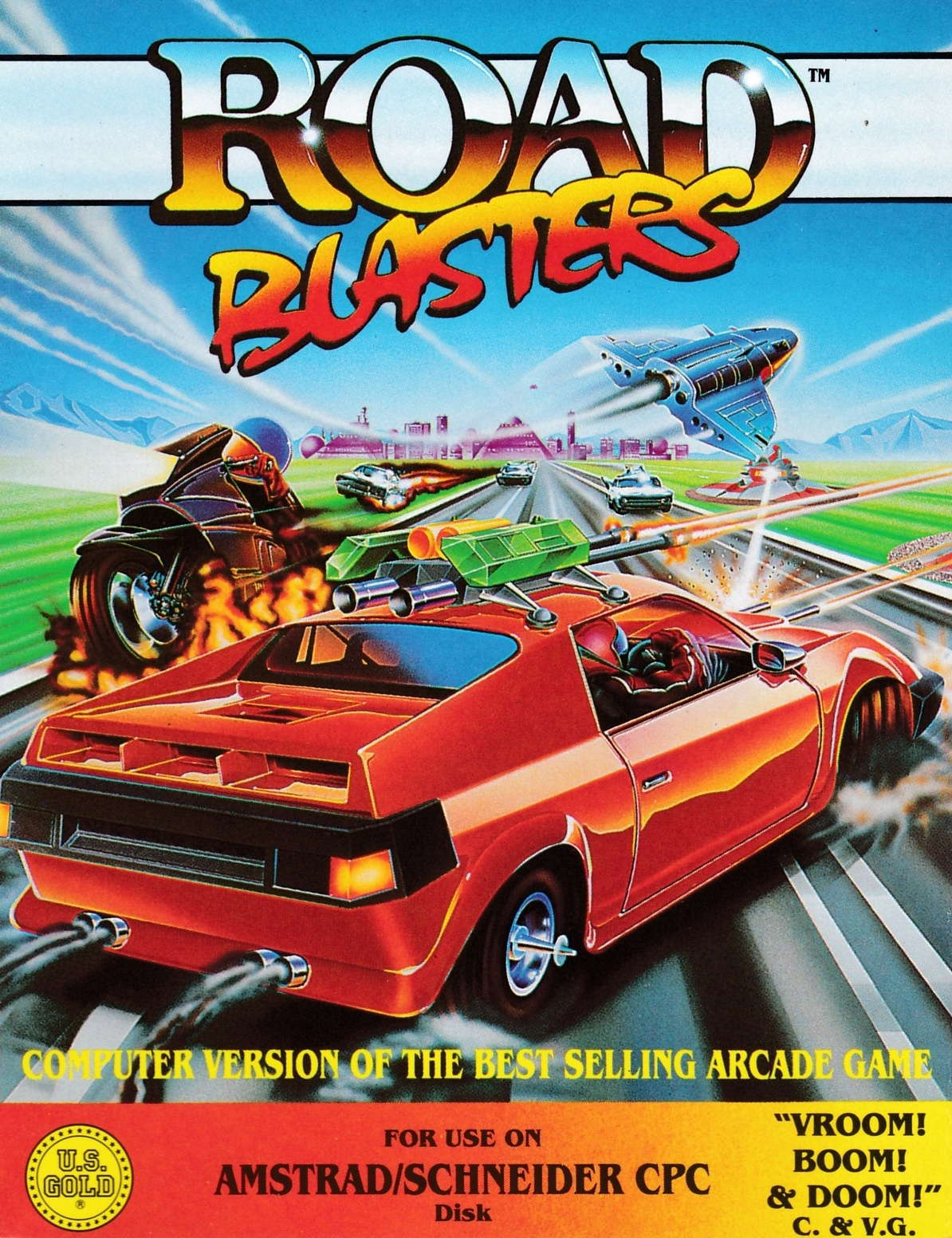 cover of the Amstrad CPC game Road Blasters  by GameBase CPC