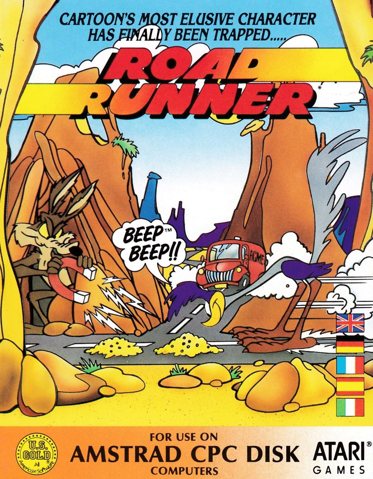 screenshot of the Amstrad CPC game Road Runner by GameBase CPC