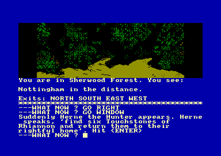 screenshot of the Amstrad CPC game Robin of sherwood by GameBase CPC