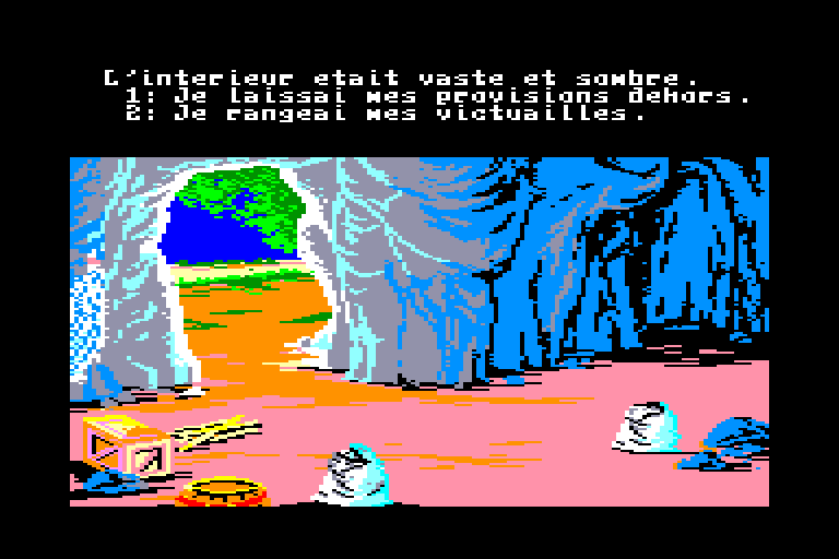 screenshot of the Amstrad CPC game Robinson crusoe by GameBase CPC
