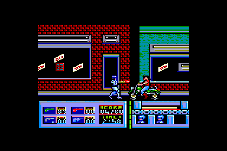 screenshot of the Amstrad CPC game Robocop by GameBase CPC