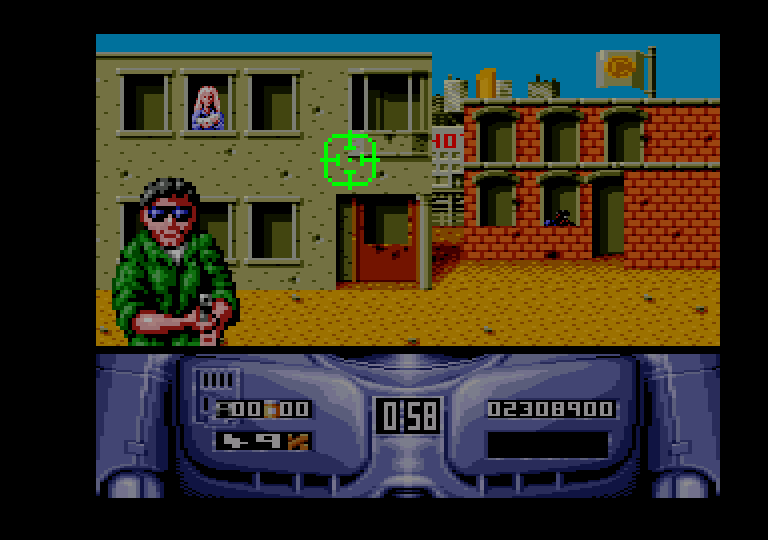 screenshot of the Amstrad CPC game Robocop 2 by GameBase CPC