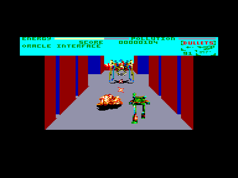 screenshot of the Amstrad CPC game Robozone by GameBase CPC