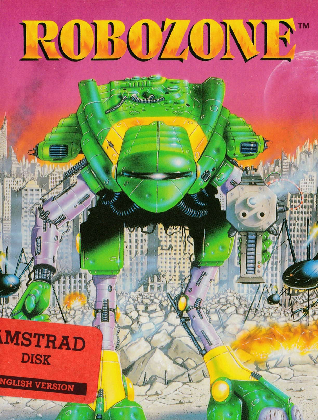 cover of the Amstrad CPC game Robozone  by GameBase CPC