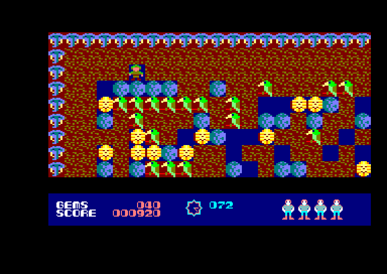 screenshot of the Amstrad CPC game Boulder Dash by GameBase CPC