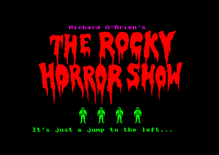 screenshot of the Amstrad CPC game Rocky Horror Show (the) by GameBase CPC