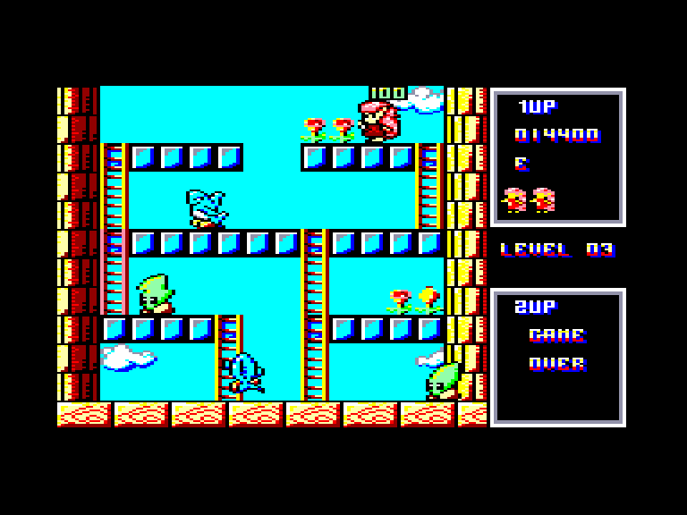 screenshot of the Amstrad CPC game Rod-Land by GameBase CPC